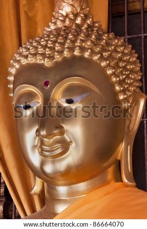 Buddha statue in the temple of Wat Phra That Luang Lampang in Lampang; Thailand