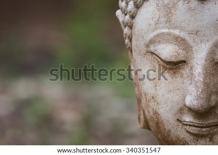 buddha statue in wat umong, chiang mai, travel thai temple in northern thailand, thailand #340351547