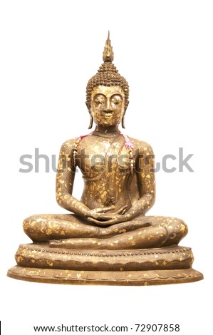 Buddha Statue, Isolated, white background