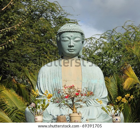 Buddha-Statue near Lahaina (Maui, Hawaii) - stock photo
