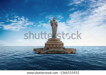 Buddha Statue of Hyderabad.Hyderabad,India