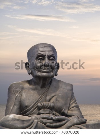 buddha statue on sky