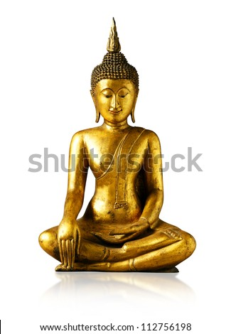 Buddha statue on white background - isolated, Thailand