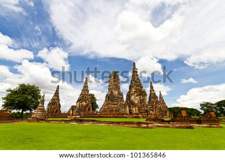 Buddha statue,  Pagoda in Thailand.