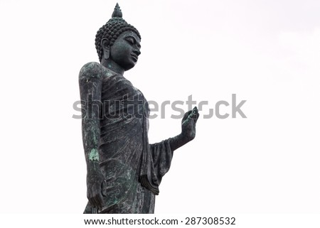 Buddha statue thai isolated