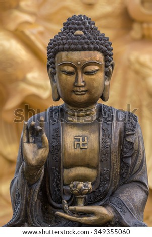 Buddha statue used as amulets of Buddhism religion