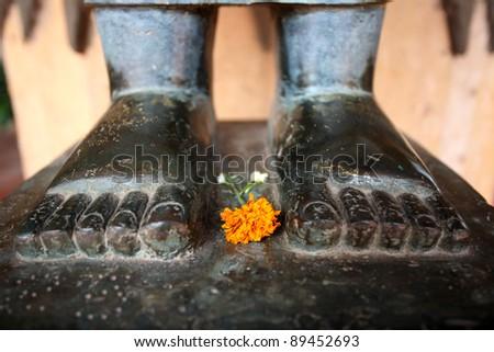 Buddha statue. Wat Ho Phra Keo, Vientiene, Laos
