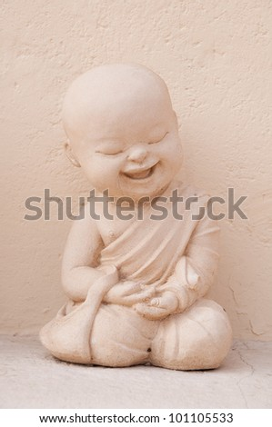 Buddha statue with plaster.