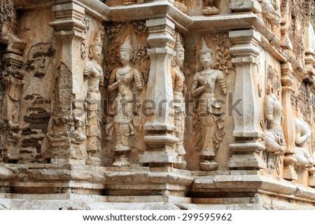 Buddha statues at Wat Jet Yod, Chiang Mai, Thailand Zdjęcia stock ©