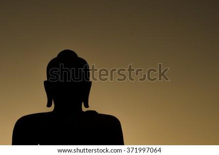 Buddha statues evening : Silhouette. #371997064