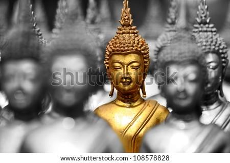 buddha status - stock photo