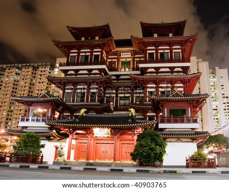 Buddha Tooth Relic Temple in Singapore China town