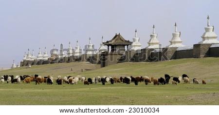 buddhist monastery in mongolia