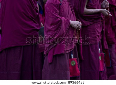 Buddhist monks, Labrang monestrary, Xiahe, China