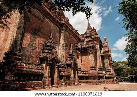 Buddhist pagoda in Bagan Myanmar, Bagan old town, Bagan pagoda