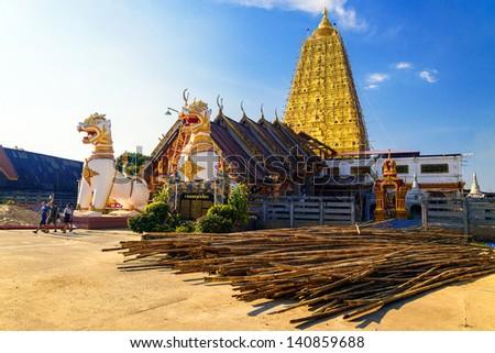 Buddhist sanctuary, Sangklaburi, Thailand