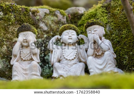 Buddhist statues at Daisho-in Temple, Miyajima, Japan - Daishoin Temple is known as the temple with over 500 statues in many different shapes and sizes. Hidden wonder on Miyajima's Mount Misen.