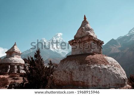 Buddhist stupa in Himalaya mountains, Nepal Foto stock ©