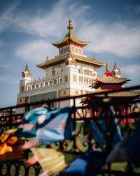 Buddhist temple Golden abode of Buddha Shakyamuni, Elista city, Republic of Kalmykia, Russia