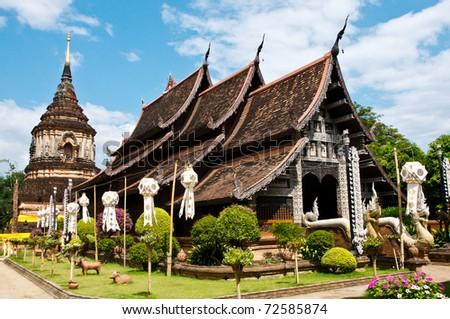 Buddhist temple in northern Thailand.