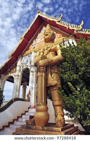 Buddhist temple in Pakse, Laos