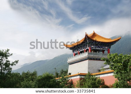 Buddhist temple in Yunnan, China
