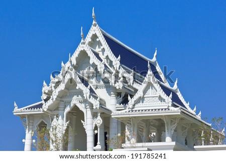 Buddhist Temple Kaeo Ko Wararam in the center of Krabi, Thailand
