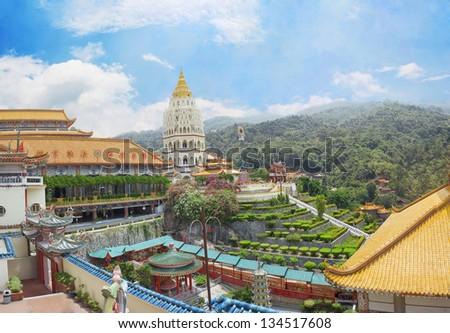 Buddhist temple Kek Lok Si in Malaysia Georgetown