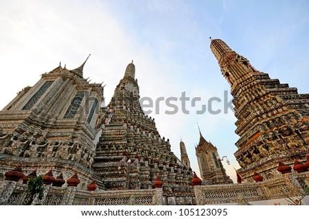 Buddhist temple Wat Arun in Bangkok, Thailand