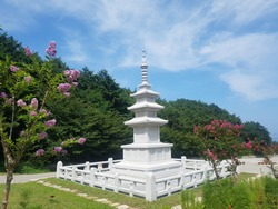 Buddhist tower and blue sky