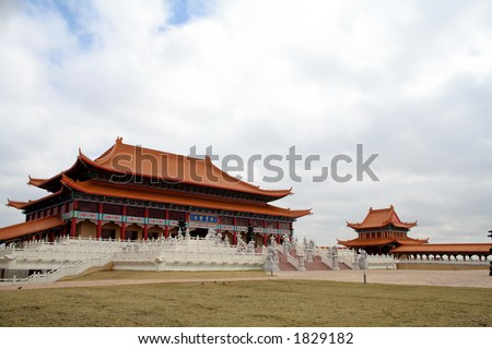 Buddist temple - stock photo