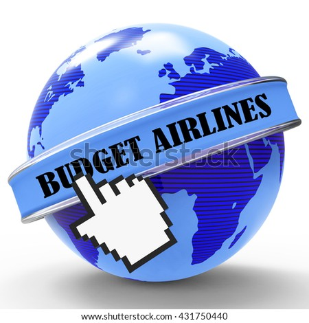Budget Airlines Meaning Special Offer And Affordable 3d Rendering
