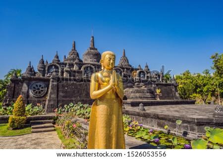budhist temple Brahma Vihara Arama Banjar Bali, Indonesia Stok fotoğraf ©