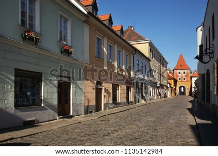 Budweiser gate - Budejovicka Gate in Cesky Krumlov. Czech republic