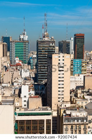Buenos Aires Argentina, view of the commercial center