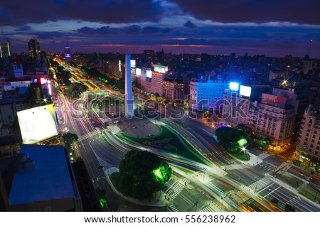 Buenos Aires is the capital city of Argentina Foto stock ©