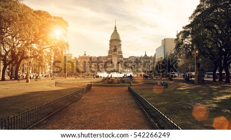 Shutterstock Buenos Aires, National Congress building on a sunset