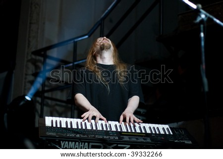 BUENOS AIRES - OCTOBER 14: STRATOVARIUS keyboardist Jens Johansson performs onstage at THE END Theater October 14, 2009 in Buenos Aires, Argentina.
