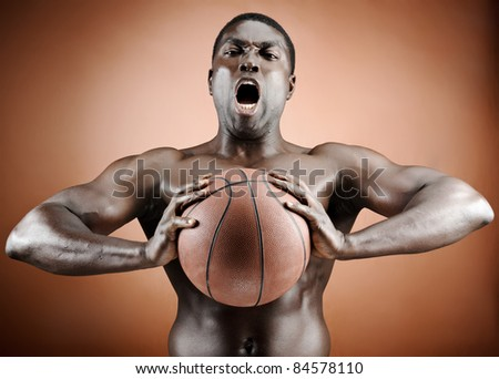 Buff basketball player is aggressive