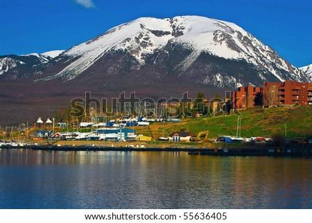 buffalo mountain above lake...