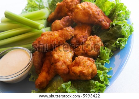 buffalo wings with dip