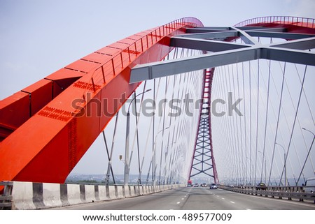 stock photo bugrinsky road bridge in novosibirsk russia city landmark 489577009 - Каталог — Фотообои «Новосибирск»