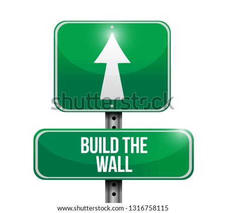 build the wall street sign icon illustration isolated over a white background