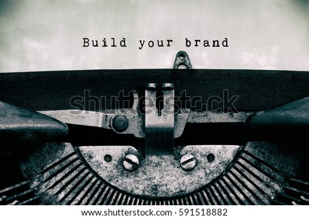 build you brand words typed on...