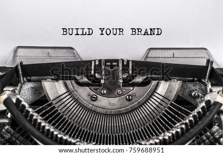 build your brand typed words on ...