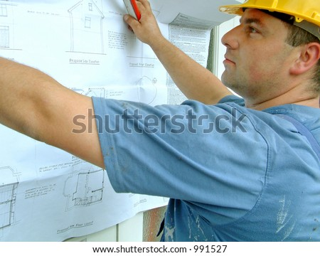 Builder at work (image contains some noise)