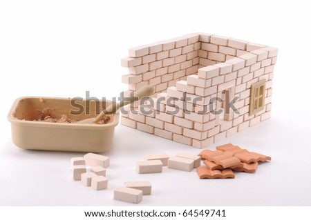 brick house clipart. a rick house isolated on