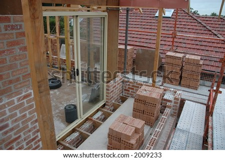building a house - stock photo