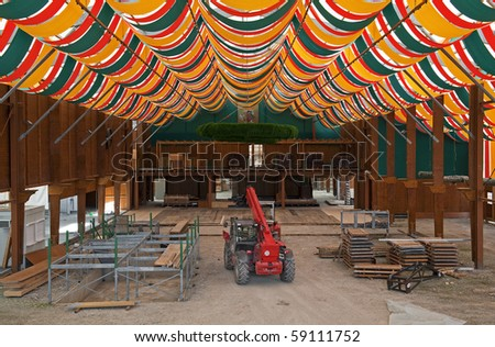 Building a traditional beer tent in Bavaria