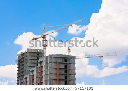 Building against a background of the sky